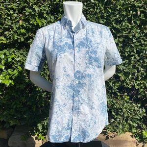 Mens Saturday's NYC short sleeve button down shirt